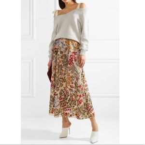 Red Valentino Tulle Embroidered Skirt